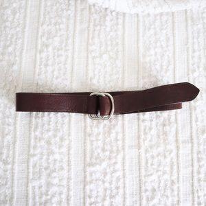 Genuine brown leather belt